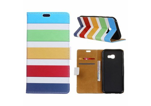 Samsung Galaxy Xcover 4 - Portemonnee Hoesje met Kaarthouder - Colorful Stripes Design