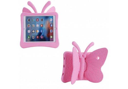 iPad Pro 9.7 / Air 2 / Air 1 - Kids Proof Cover Beschermd Tegen Krassen en Stoten - Vlinder Design - Roze