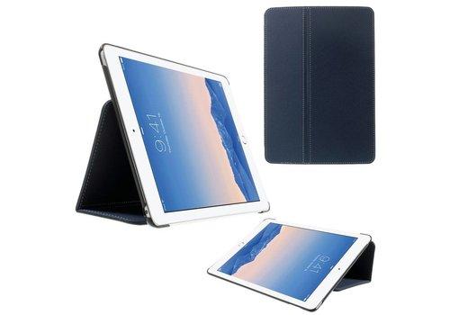 Apple iPad Air 2 - PU lederen Book Case Hoes Denim skin - Donker Blauw