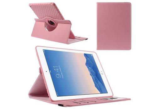 Apple iPad Air 2 - 360 graden Draaibare Beschermhoes Cover Tablethoes met Kaarthouder - Rose