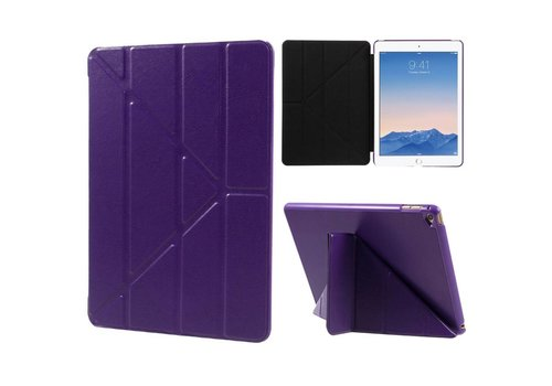 Apple iPad Air 2 - Origami Stand PU lederen Tablet Case - Paars