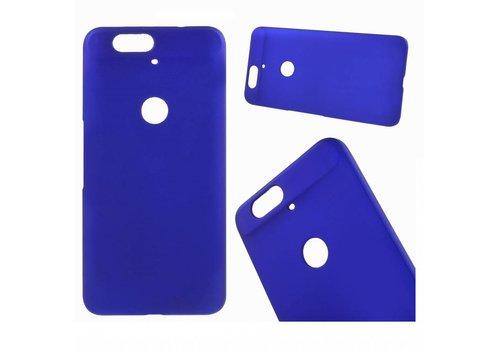 Huawei Nexus 6P - Harde Back Case Anti-fingerprint Hoesje - Blauw