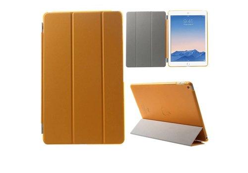 Apple iPad Air 2 - PU Lederen Case Flip Cover Tri-fold Stand - Oranje