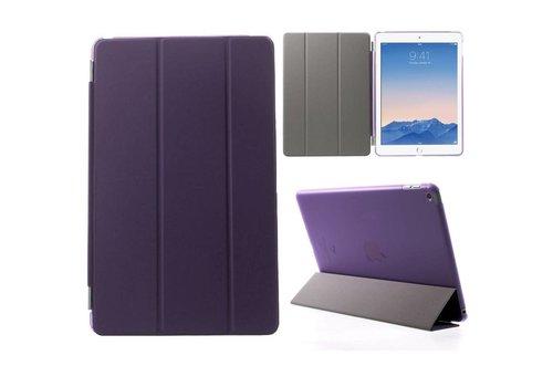 Apple iPad Air 2 - PU Lederen Case Flip Cover Tri-fold Stand - Paars