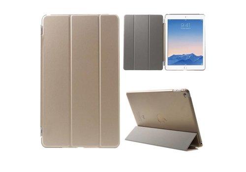 Apple iPad Air 2 - PU Lederen Case Flip Cover Tri-fold Stand - Goud