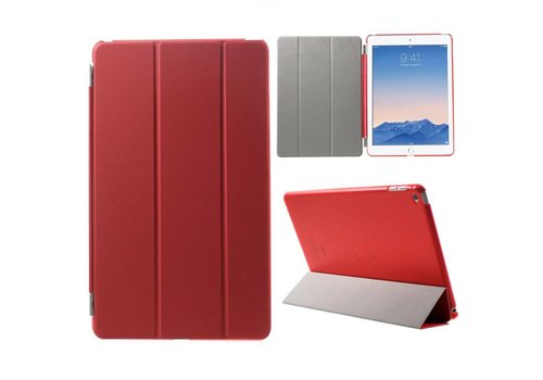 Apple iPad Air 2 - PU Lederen Case Flip Cover Tri-fold Stand - Rood