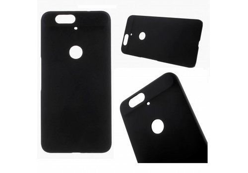 Huawei Nexus 6P - Harde Back Case Anti-fingerprint Hoesje - Zwart