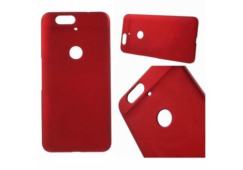 Huawei Nexus 6P - Harde Back Case Anti-fingerprint Hoesje - Rood