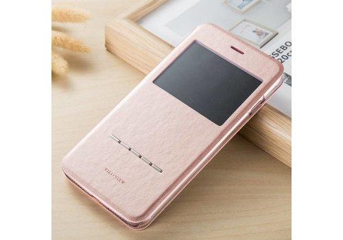 Apple iPhone 7 / 8 - PU lederen Window View Case - Rose