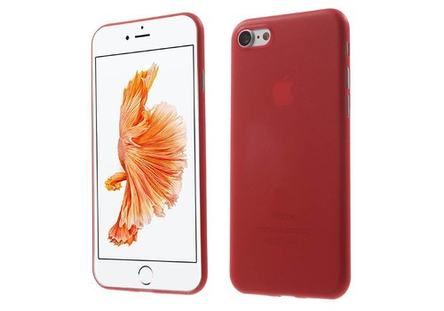 Apple iPhone 7 / 8 - Ultra Dunne PC Hard Case - Rood