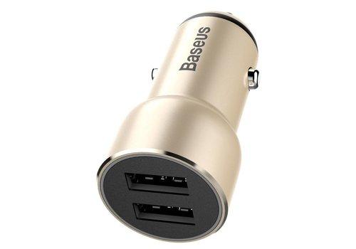 BASEUS - Autolader Dubbel USB - Goud