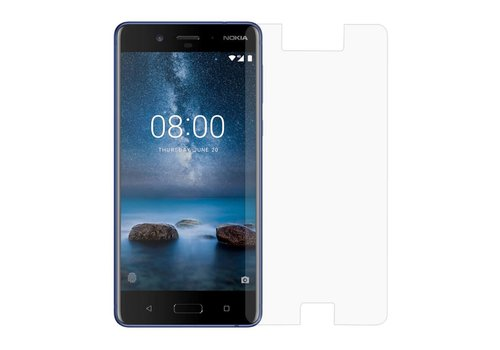 Nokia 8 - Krasbestendige Glazen Screenrpotector - Transparant
