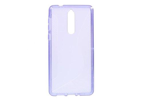 Nokia 8 - S-Line Flexibel TPU Hoesje Back Case - Paars