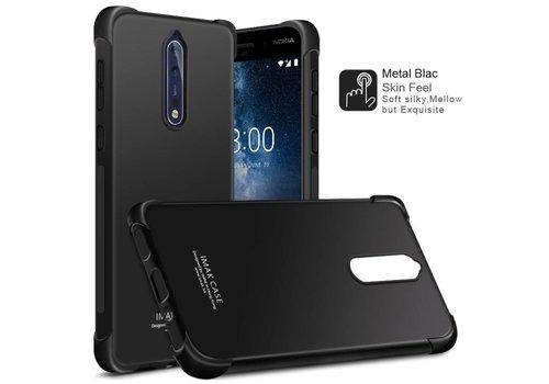 Nokia 8 - Shockproof TPU Back Case met Screenprotector - Zwart Default