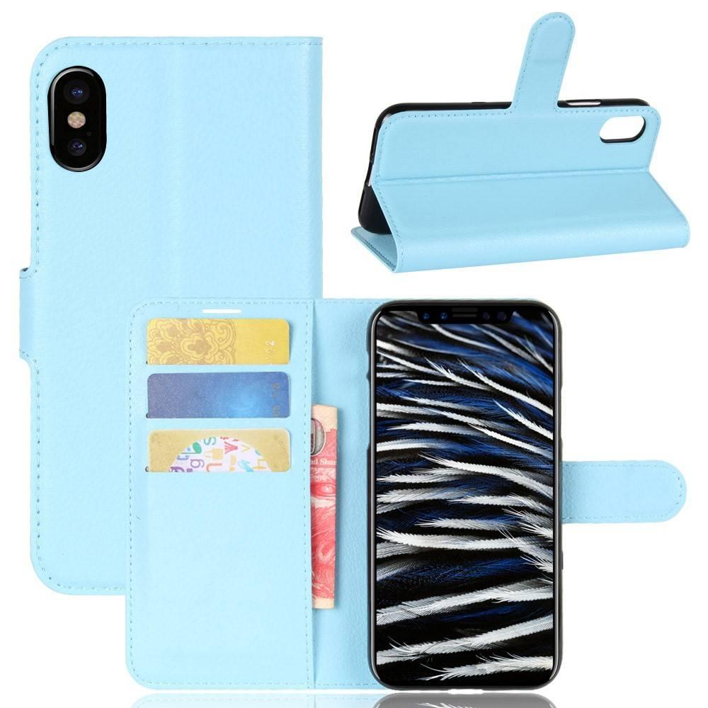 Blauwe Leren Portemonnee.Gsmwise Apple Iphone X Lychee Pu Lederen Portemonnee Case Blauw