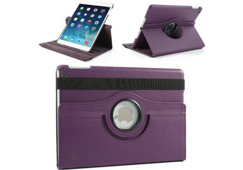 Apple iPad Air 1 (iPad 5) - 360 graden draaibare Hoes - Kleur Paars