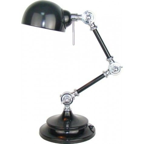 Davidi retro Willmore Bureaulamp Zwart