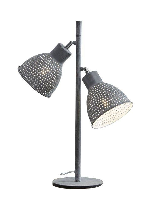 Davidi Design Darkas retro tafellamp Grijs