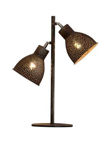 Davidi Design Darkas retro tafellamp Bruin