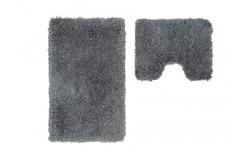 Cosmopolitan Badmat Zilver Set van 2 U-Vorm