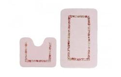 Vanity Badmat Roze Set van 2 U-Vorm