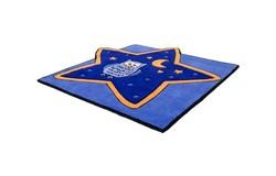 Magic Vormen Kindervloerkleed Blauw 306