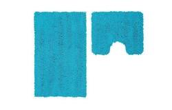 Vogue Badmat Turquoise Set van 2 U-Vorm