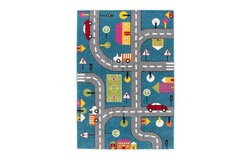 Amigo Street Kindervloerkleed 160x230 Blauw