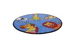 Magic Vormen Kindervloerkleed Blauw 303