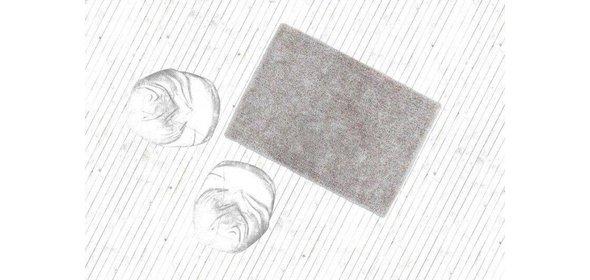 Kayoom Flash Vloerkleed 80x150 Zilver/Wit