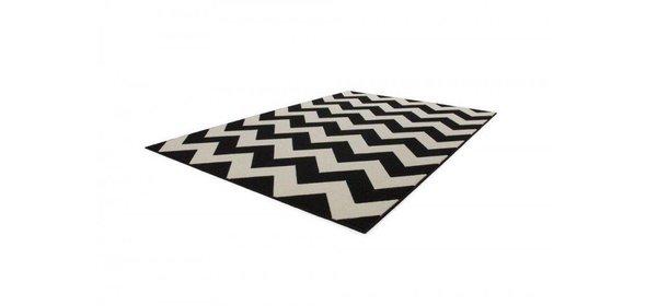Kayoom Manolya Vloerkleed 80x250 Wit/Zwart