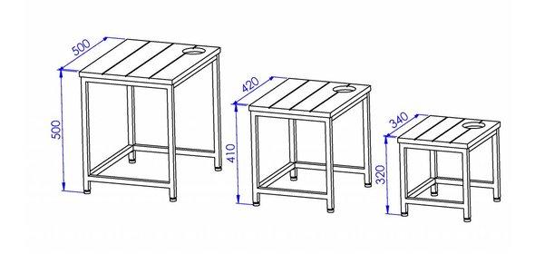 Jual Furnishings Steel Bijzettafel Set
