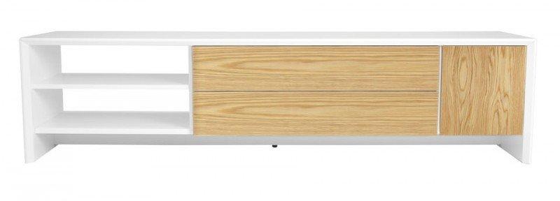 Tenzo Profil TV meubel 180 cm. Wit/Eiken