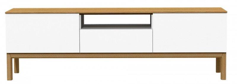 Tenzo Patch TV meubel Wit/Eiken Fineer