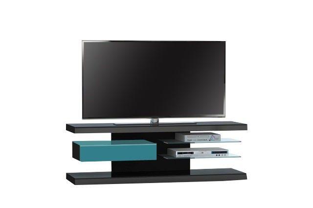 Jahnke Moebel TV meubel SL 660 LED Zwart/Petrol Groen