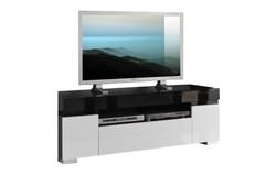 Zenos TV meubel HG Zwart/Wit