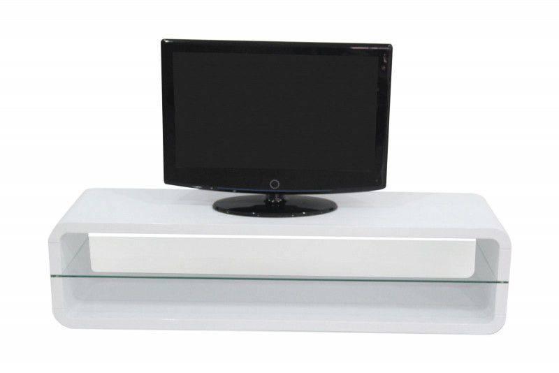 Monaica Derby TV meubel Large Hoogglans Wit