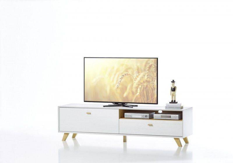 Germania Calvi TV meubel Medium Wit Hoge Poten