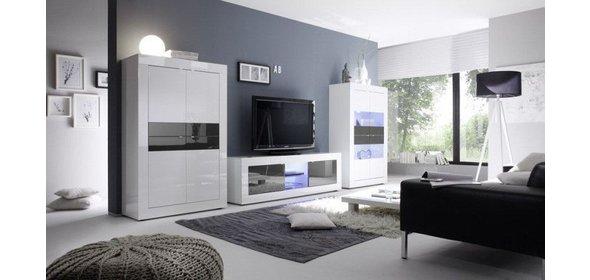 Benvenuto Design Modena TV meubel Big HG Wit/Antraciet+LED