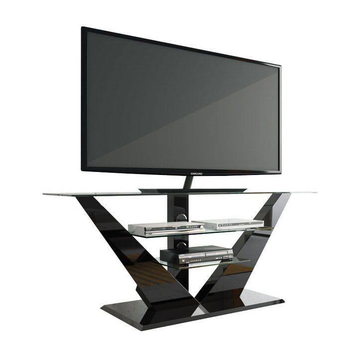Hubertus Meble Luna TV-meubel Hoogglans Zwart