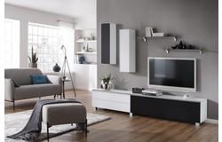 Fresh en Stick TV Wandmeubel Luxe Wit/Zwart