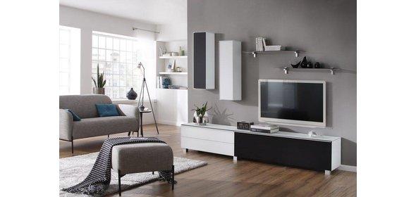 Maja Moebel Fresh en Stick TV Wandmeubel Luxe Wit/Zwart