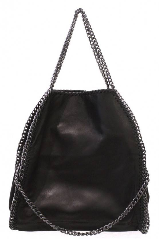 CHAIN BAG – BLACK LEATHER