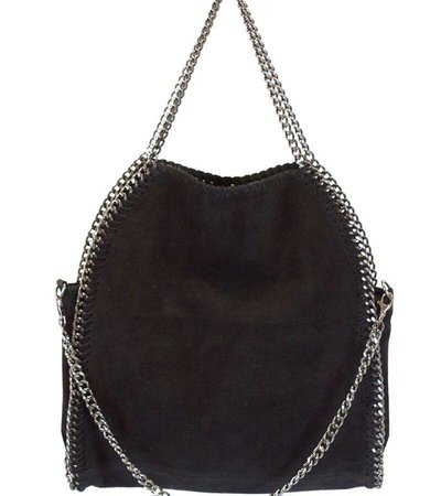 CHAIN BAG – BLACK NUBUCK