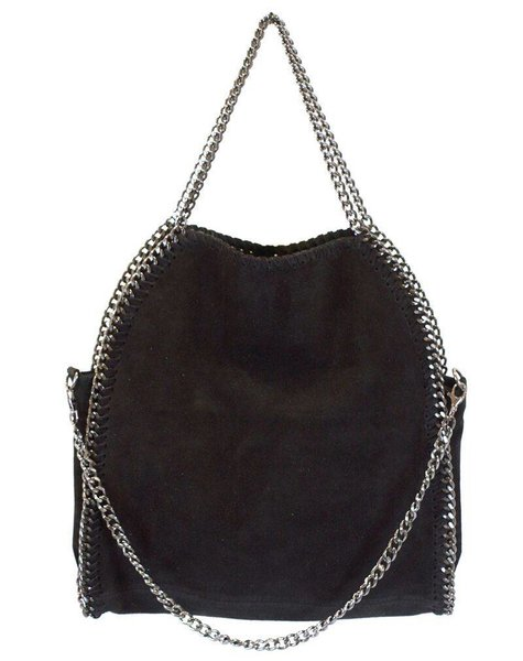 CHAIN BAG – BLACK NUBUCK