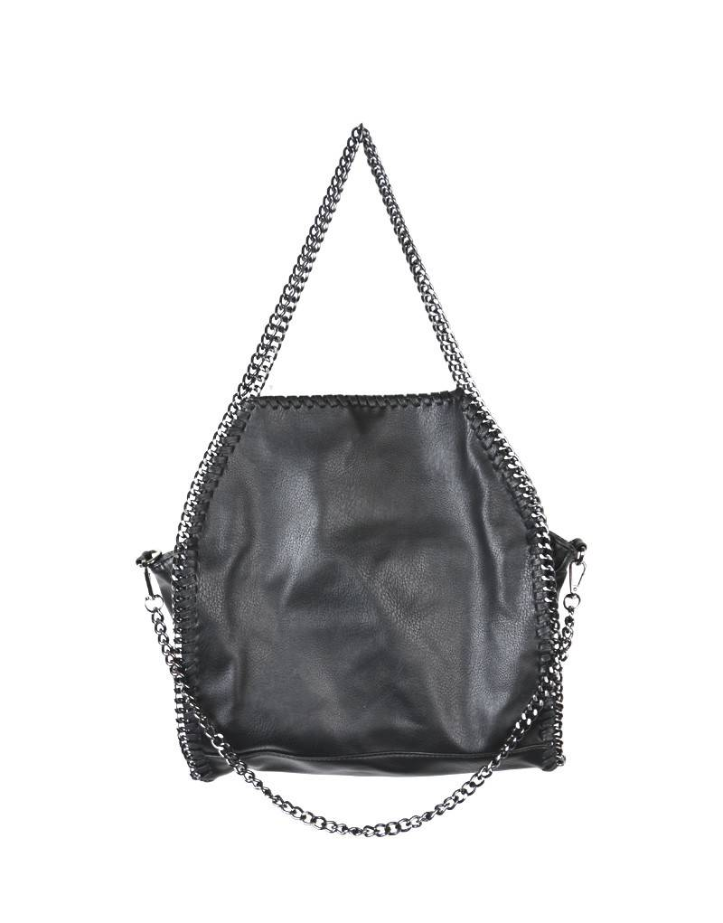 SYNTHETIC CHAIN BAG – BLACK