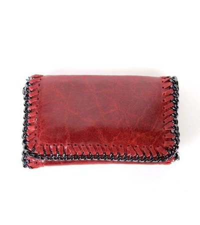 LITTLE CHAIN BAG – BORDEAUX LEATHER