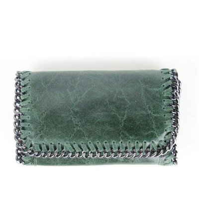 LITTLE CHAIN BAG – GREEN LEATHER