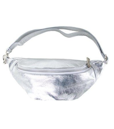 SILVER SPACE BUM BAG