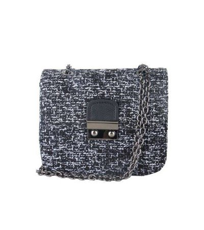 WOVEN LITTLE BAG – BLACK/WHITE